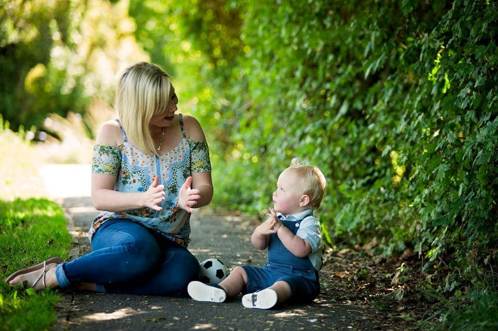 mum, mother and son, clap hands, petts wood, bromley, park