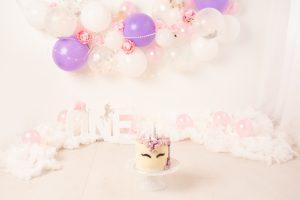 balloon garland, unicorn, cake smash, bromley, kent, chislehurst, one, first birthday
