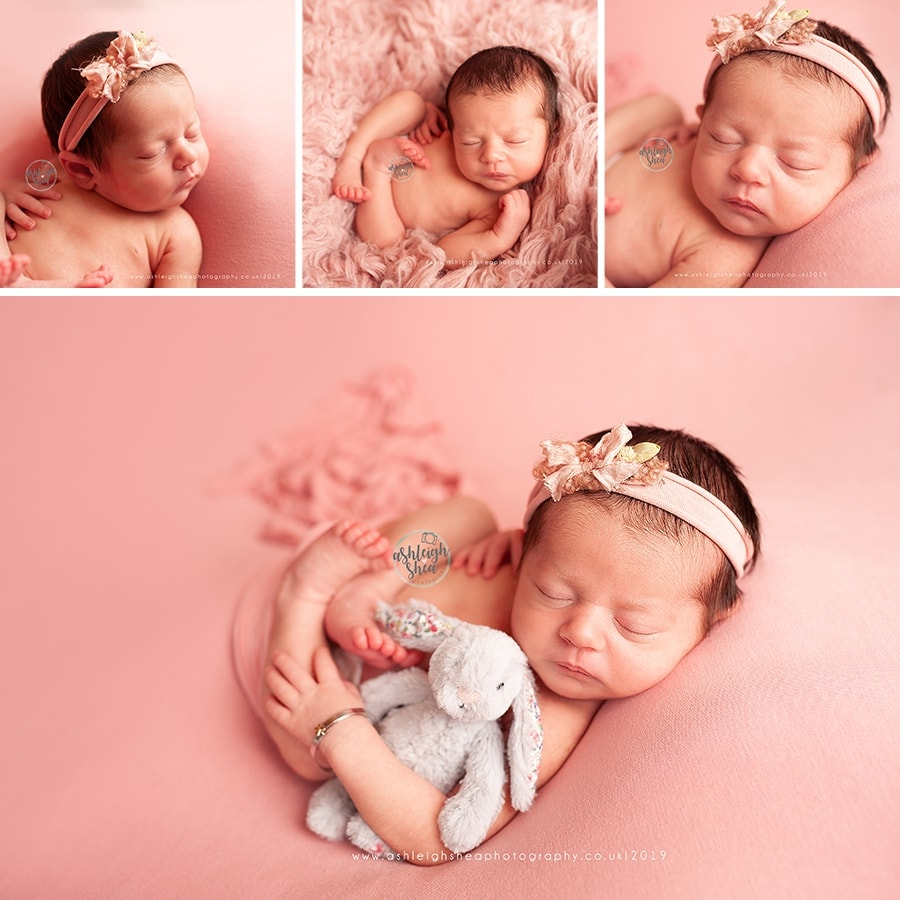 Pink, Peach, Jelly Cat, Baby bangle, Flokati, Newborn Session, Ashleigh Shea Photography, Biggin Hill, Kent, Newborn Photographer