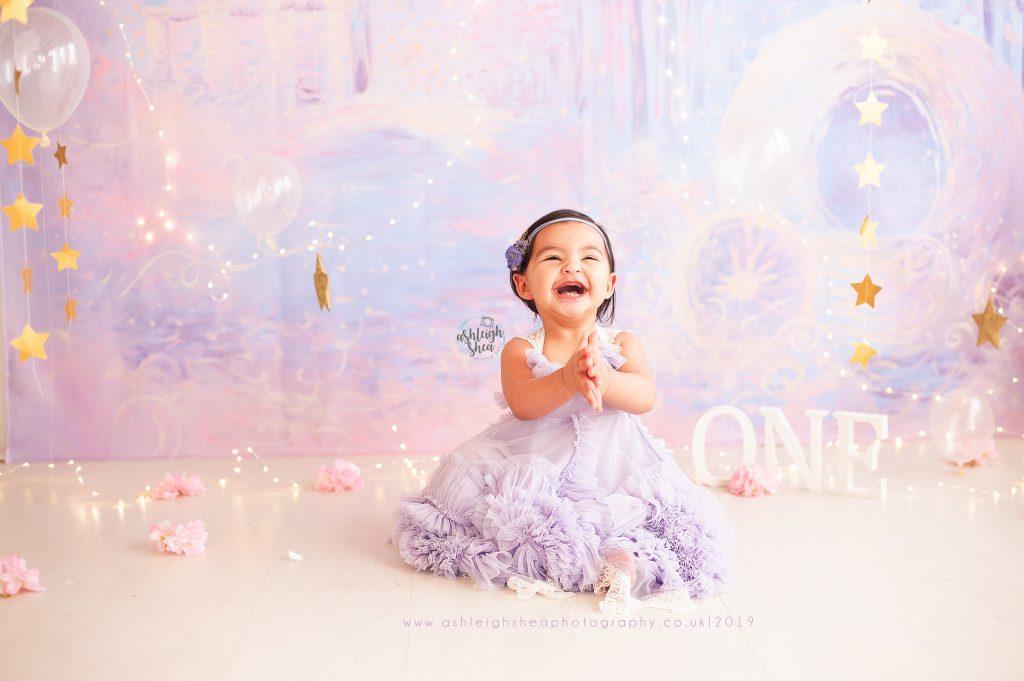 Princess, Cake Smash, Heidi Hope Backdrop, Fairy Lights, Ashleigh Shea Photography, Petts Wood, London