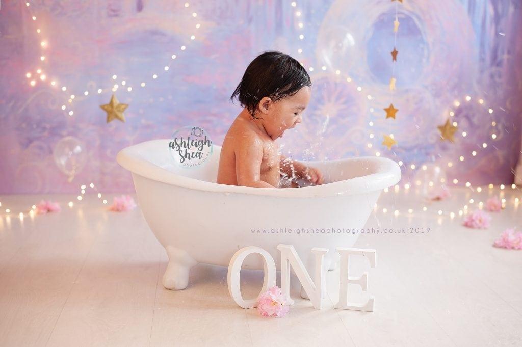 Princess, Bath Splash, Heidi Hope Backdrop, Fairy Lights, Ashleigh Shea Photography, Petts Wood, London