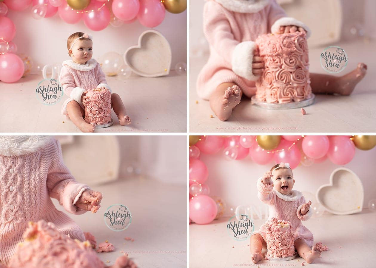 Squish, Cake Smash, Details, Little Hands, Little Toes, Pink Cake, Petts Wood, Kent, Ashleigh Shea Photography