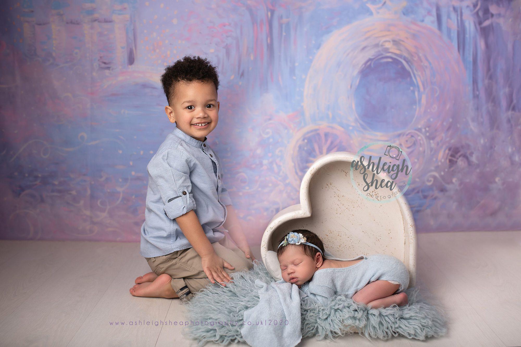 Ashleigh Shea Photography, Prince Charming, Big Brother, Cinderella Inspired, Disney Inspired, Heidi Hope Backdrop, Princess,