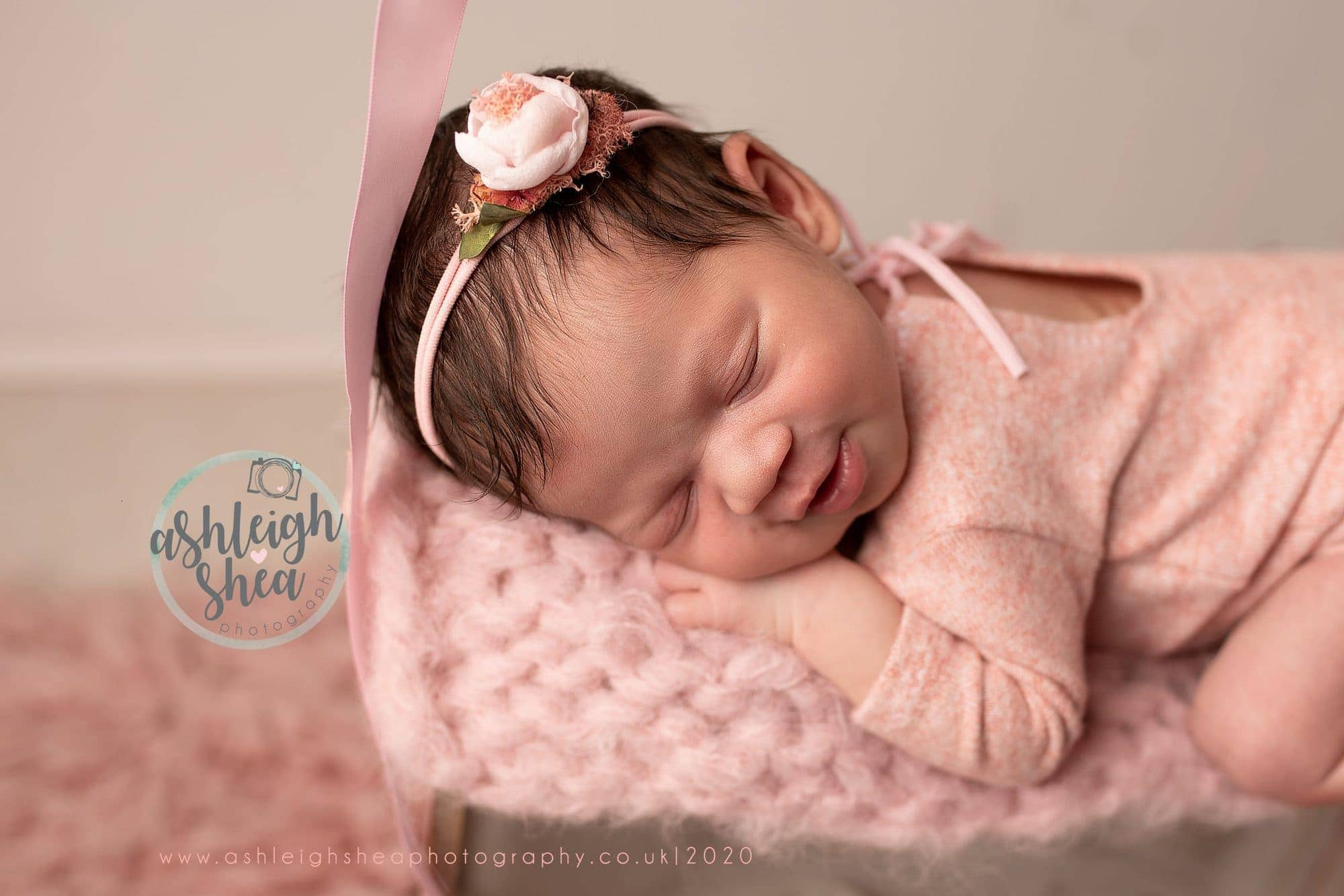 Baby Smiles, Pink, Ivy and Nell, Newborn Session, Ashleigh Shea Photography, Kent, Bromley