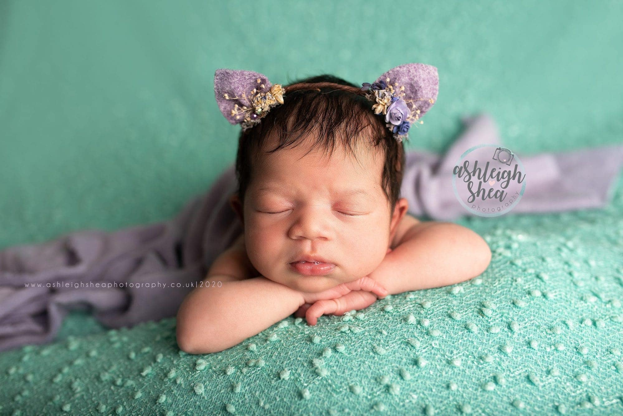 Baby Girl, Mint, Lilac, Baby Kitten, Ashleigh Shea Photography, Petts Wood, Kent