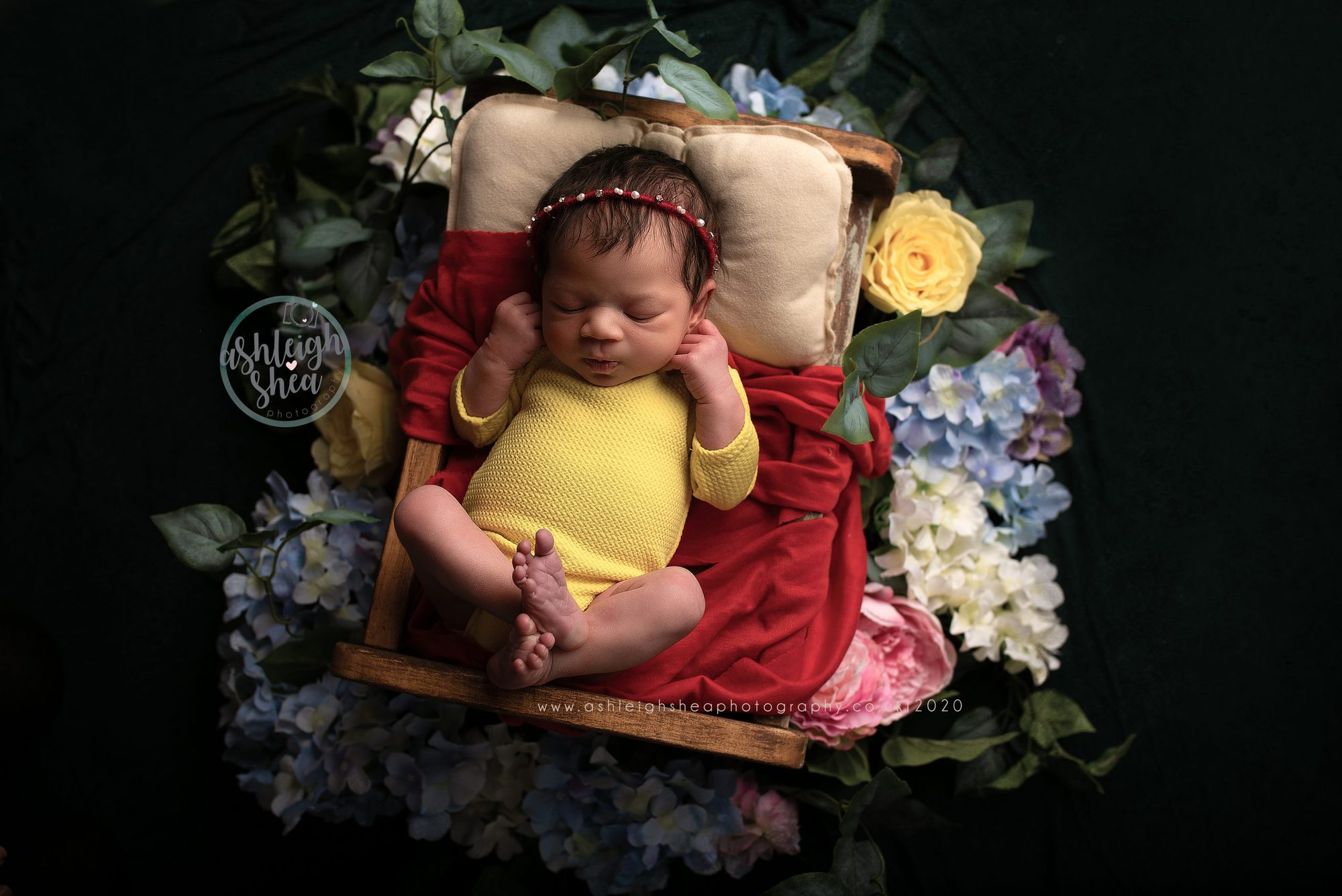 Snow White Inspired, Newborn Pictures, Baby Girl, Ashleigh Shea Photography, London, Kent,