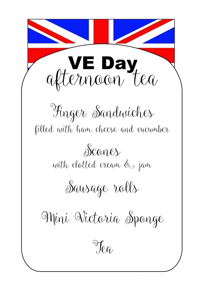 VE Day Menu, 75 VE Day, Victory in Europe, Afternoon Tea, Ashleigh Shea Photography